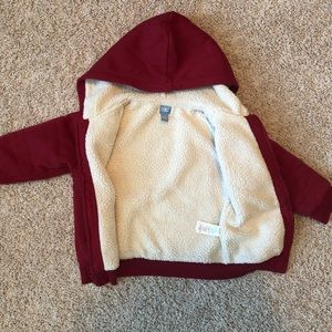 GAP Shirts & Tops - GAP Sherpa lined red and blue zippered hoodie